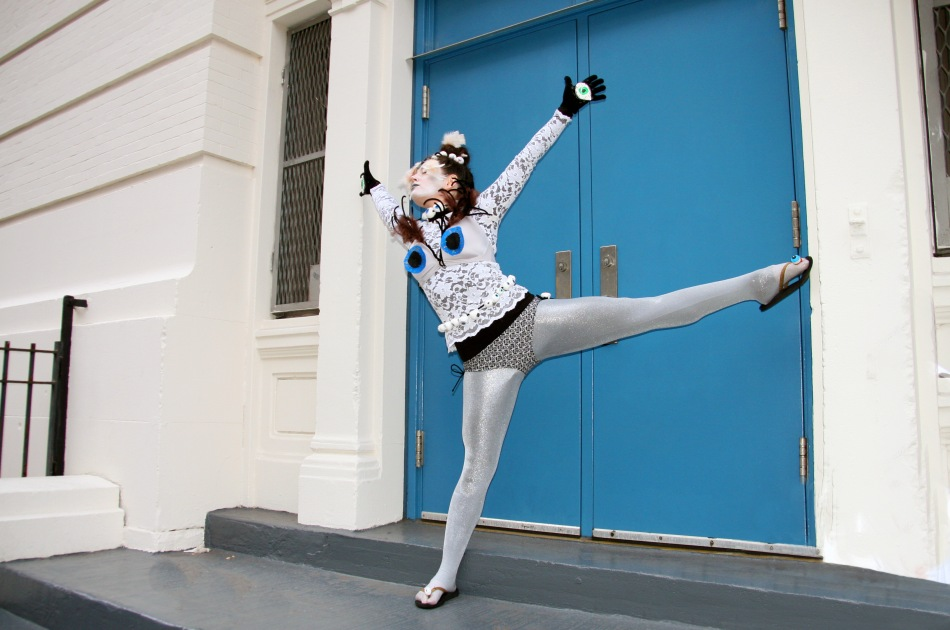 dancer blue door